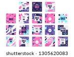 big sale banners set  bright... | Shutterstock .eps vector #1305620083