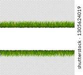 green grass border transparent... | Shutterstock . vector #1305624019