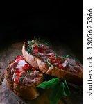 lavishly spread fresh brussels...   Shutterstock . vector #1305625366
