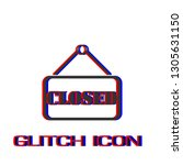 closed plate icon flat. simple... | Shutterstock .eps vector #1305631150