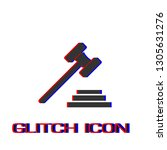 gavel icon flat. simple... | Shutterstock .eps vector #1305631276