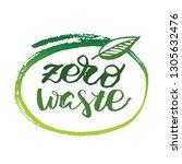 zero waste   hand drawn doodle... | Shutterstock .eps vector #1305632476