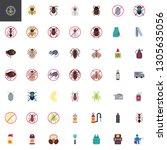 pest control elements... | Shutterstock .eps vector #1305635056