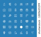 editable 36 price icons for web ... | Shutterstock .eps vector #1305635299