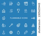 editable 22 flammable icons for ... | Shutterstock .eps vector #1305635443