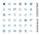 editable 36 continent icons for ... | Shutterstock .eps vector #1305637849