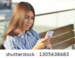 a beautiful portrait of a... | Shutterstock . vector #1305638683