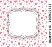 background with cute hearts and ... | Shutterstock .eps vector #1305639583