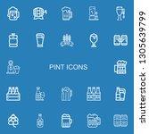 editable 22 pint icons for web...   Shutterstock .eps vector #1305639799