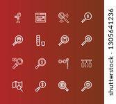 editable 16 explore icons for...   Shutterstock .eps vector #1305641236