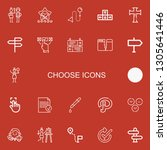 editable 22 choose icons for... | Shutterstock .eps vector #1305641446