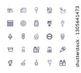 editable 25 flavor icons for... | Shutterstock .eps vector #1305641473