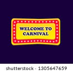 yellow signboard welcome to... | Shutterstock .eps vector #1305647659