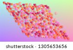love background. heart confetti ... | Shutterstock .eps vector #1305653656