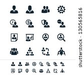 human resource management icons | Shutterstock .eps vector #130565816