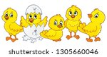 cute chickens topic image 1  ... | Shutterstock .eps vector #1305660046