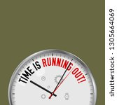time is running out. white... | Shutterstock .eps vector #1305664069