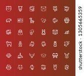 editable 36 mammal icons for...   Shutterstock .eps vector #1305665359