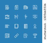 editable 16 clipboard icons for ... | Shutterstock .eps vector #1305665536