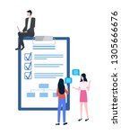 business planning and...   Shutterstock .eps vector #1305666676