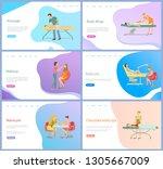 salon with beauty procedures... | Shutterstock .eps vector #1305667009