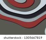 colorful carving art.paper cut... | Shutterstock . vector #1305667819