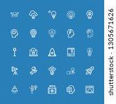 editable 25 innovation icons... | Shutterstock .eps vector #1305671626
