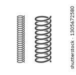 spiral spring set. isolated...   Shutterstock .eps vector #1305672580