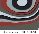 colorful carving art.paper cut... | Shutterstock . vector #1305673843