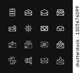editable 16 receive icons for... | Shutterstock .eps vector #1305676099