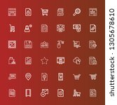 editable 36 add icons for web... | Shutterstock .eps vector #1305678610