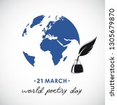World Poetry Day Sketch Of A...