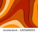 colorful carving art.paper cut... | Shutterstock . vector #1305680053