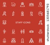 editable 22 staff icons for web ... | Shutterstock .eps vector #1305681793