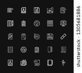 editable 25 clipboard icons for ... | Shutterstock .eps vector #1305681886