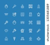editable 25 kitchenware icons... | Shutterstock .eps vector #1305681889
