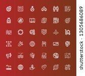 editable 36 earth icons for web ... | Shutterstock .eps vector #1305686089