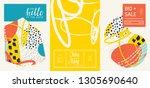 set of creative universal... | Shutterstock .eps vector #1305690640