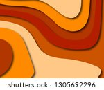 colorful carving art.paper cut... | Shutterstock . vector #1305692296