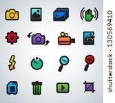 photography icons | Shutterstock .eps vector #130569410