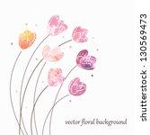 Floral Vintage Background....