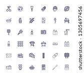 editable 36 gourmet icons for... | Shutterstock .eps vector #1305697456