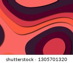 colorful carving art.paper cut... | Shutterstock . vector #1305701320