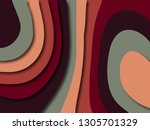 colorful carving art.paper cut... | Shutterstock . vector #1305701329