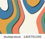 colorful carving art.paper cut... | Shutterstock . vector #1305701350