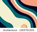 colorful carving art.paper cut... | Shutterstock . vector #1305701353