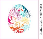 easter card with stylized... | Shutterstock .eps vector #130570334