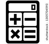 icon shows a calculator. pixel... | Shutterstock .eps vector #1305704593