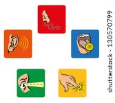 icons that represent the human... | Shutterstock . vector #130570799