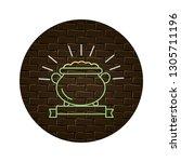 gold coins pot cartoon | Shutterstock .eps vector #1305711196